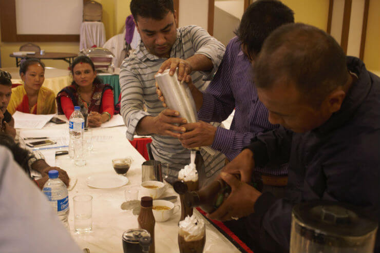 Barista Workshop for Coffee Orchards and Restaurants in Nepal