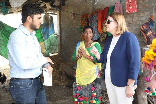 Ambassador Cody talks to Saugat Gatam, ICCO's Program Coordinator in Nepal.