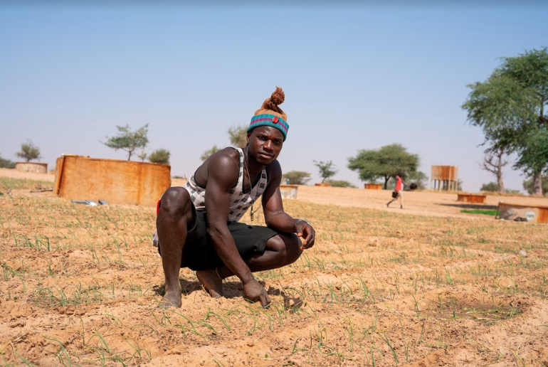 Young male farmer in Potou, Senegal