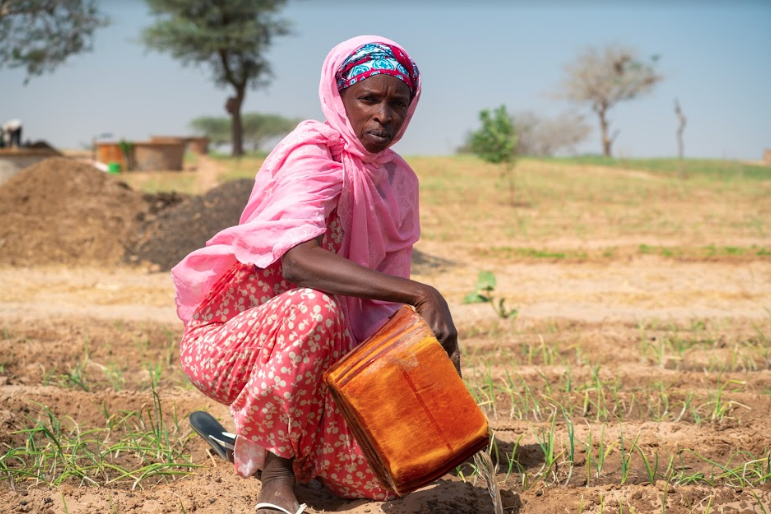 Aicha Sow, female farmer in Potou, Senegal