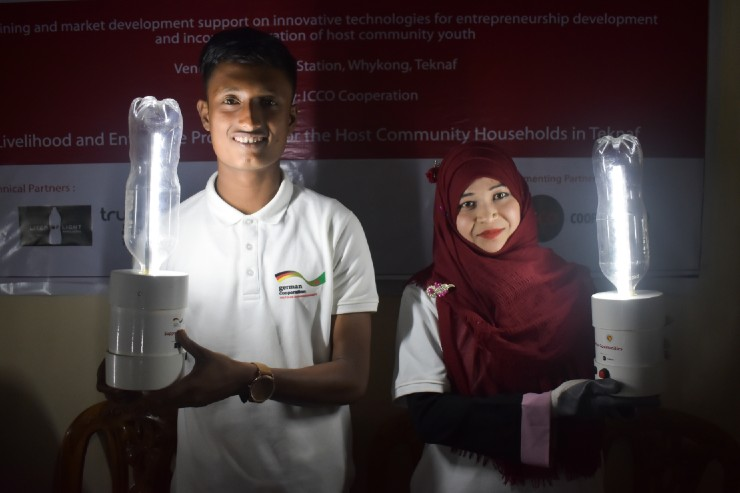 Making Solar Lamps of Recycled Plastic Bottles