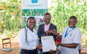 Radiant insurance paying compensation to Rice cooperative in south province in Gisagara district