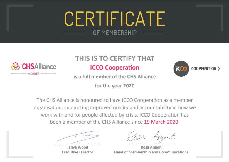 ICCO Qualified for the CHS Verification Scheme