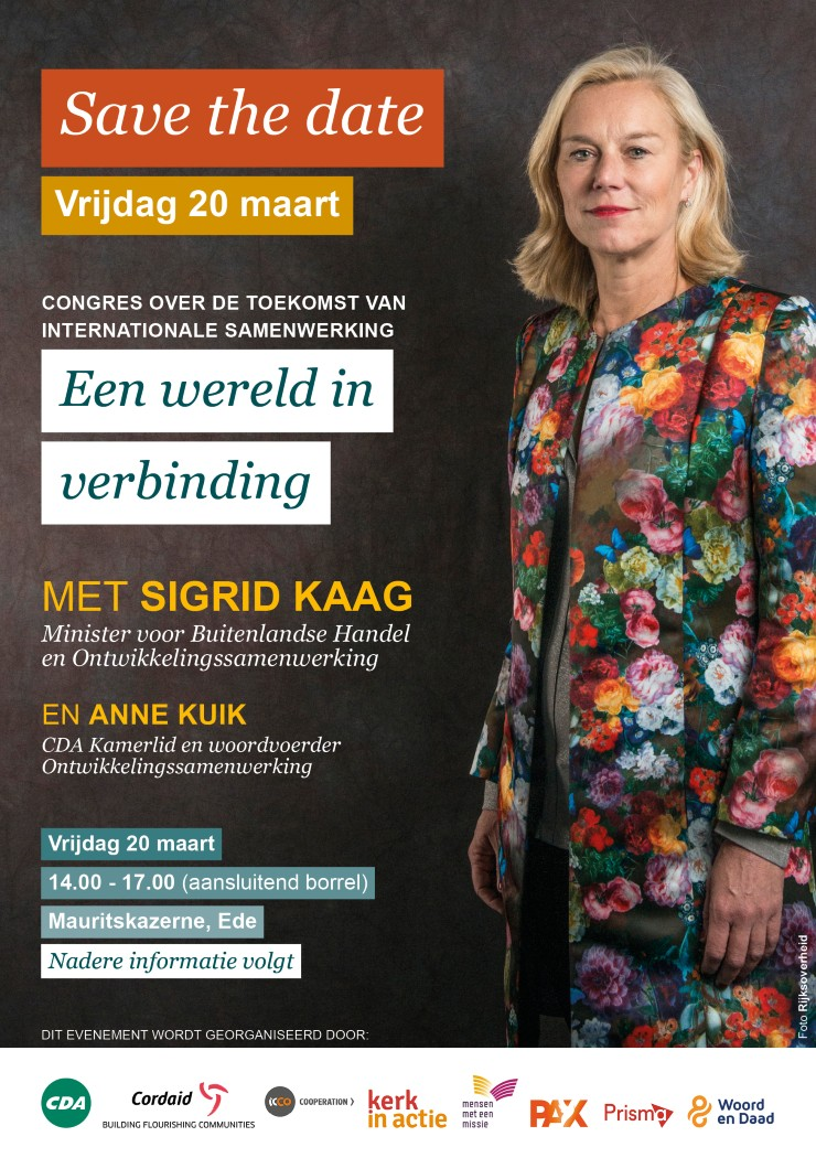 Save the date CDA congres 20 maart 2020