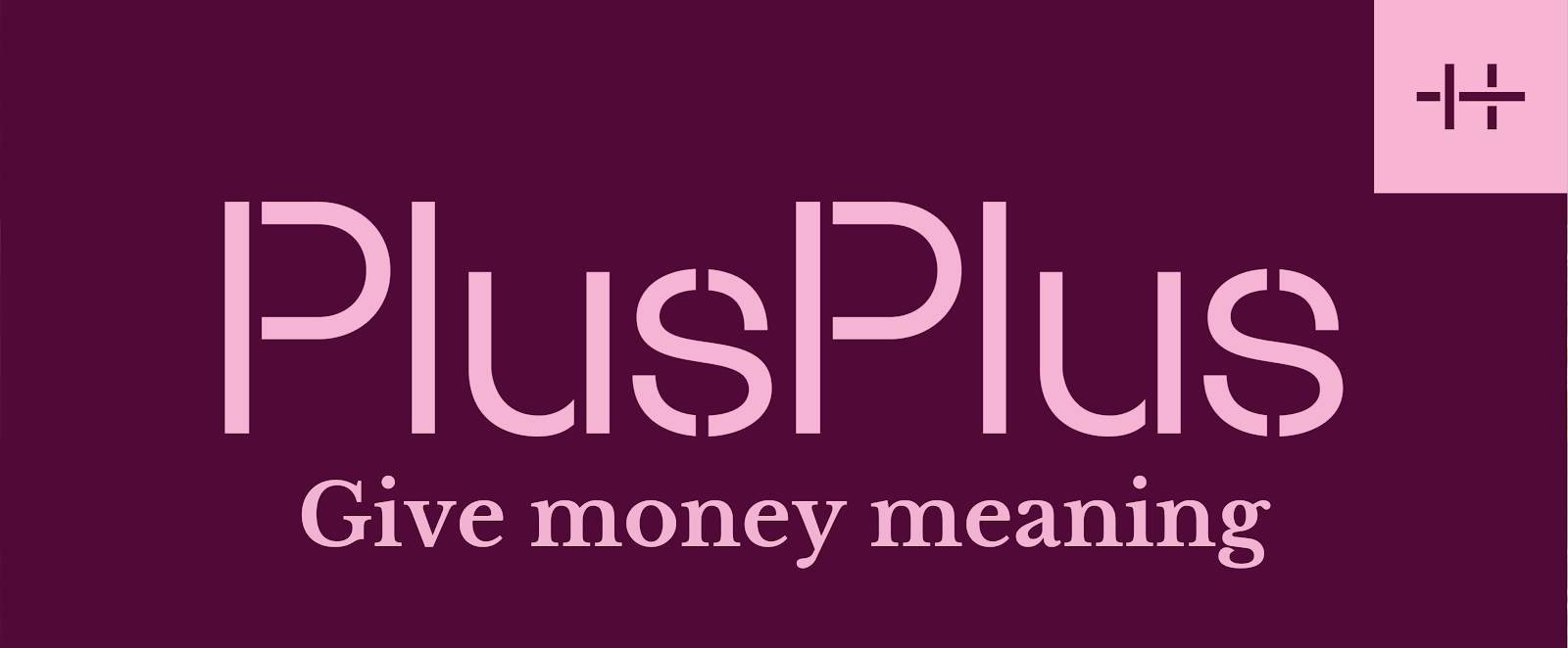 Logo PlusPlus - Give your money meaning